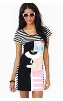 Nasty Gal Face To Face Stripe Dress