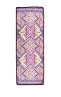 Matthew Williamson Raj Patchwork Pom Pom Scarf in Pink