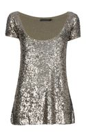 Donna Karan New York Embellished Top - Lyst