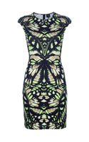 McQ by Alexander McQueen Interlock Butterfly Camouflage Dress