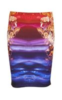 McQ by Alexander McQueen Contour Pencil Skirt - Lyst