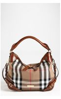 Burberry House Check Small Hobo - Lyst
