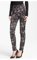 Donna Karan New York Collection Lace Print Stretch Satin Pants