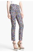 Erdem Left Bank Check Print Slim Pants