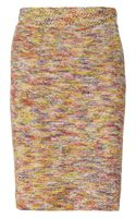Oscar de la Renta Knitted Silk Skirt