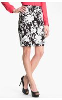 Halogen Print Stretch Cotton Blend Skirt