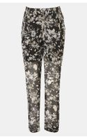 Topshop Shadow Floral Sheer Chiffon Maternity Trousers