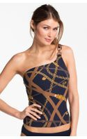 Michael by Michael Kors One Shoulder Tankini Top
