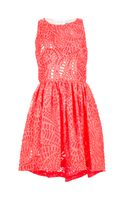 MSGM Laser Cut Dress - Lyst