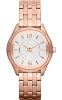 DKNY Womens Rose Gold Ionplated Stainless Steel Bracelet 34mm