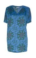 Tucker Vneck Paisley Tunic Dress - Lyst