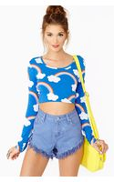 Nasty Gal Rainbows Crop Top - Lyst