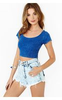 Nasty Gal Summertime Blues Crop Top