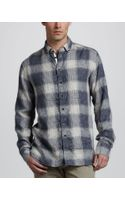 Rag & Bone Ombre Plaid Shirt - Lyst