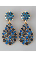 Oscar de la Renta Multistone Teardrop Earrings