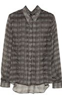 Theyskens' Theory Iareal Printed Silk Shirt - Lyst