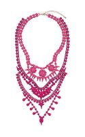 Topshop Bright Multirow Bead Necklace - Lyst