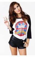 Nasty Gal The Who Anniversary Tee - Lyst