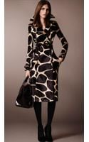 Burberry Animal Print Calf-skin Trench Coat - Lyst