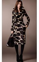 Burberry Animal Print Calf-skin Trench Coat