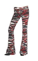Just Cavalli Zebra Print Boot Cut Stretch Denim Jeans
