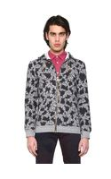 Marc Jacobs Washed Fleece Floral Print Sweatshirt