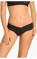 Hanky Panky After Midnight Lace Open Gusset Lowrise Thong - Lyst