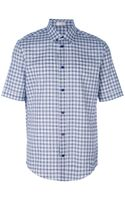 Balenciaga Checked Short Sleeve Shirt - Lyst