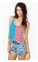 Nasty Gal Kids in America Crop Tank - Lyst