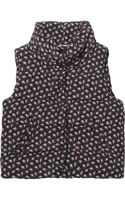 Band Of Outsiders Rosebudprint Quilted Silk Vest