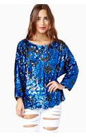 Nasty Gal Walk The Moon Sequin Top - Lyst