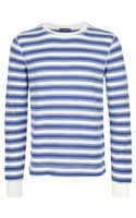 Dolce & Gabbana Striped Cotton T-shirt - Lyst