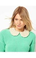 Asos Pearl Peter Pan Collar