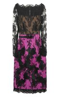 Erdem Ariel Lace and Satintwill Dress - Lyst