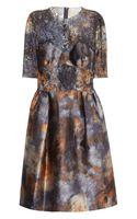 Mulberry Tiedye Satin and Lace Dress - Lyst