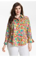 Foxcroft Print Shaped Cotton Shirt