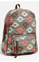 Lulu Print Canvas Backpack