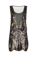 Haute Hippie Deep Plunge Embellished Dress - Lyst