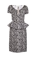 Oscar de la Renta Printed Peplum Dress - Lyst
