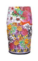Versace Floral Pencil Skirt