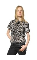 Christopher Kane Leopard Printed Ponyskin and Nappa Top - Lyst