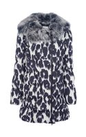 Moschino Cheap & Chic Padded Leopard Print Coat