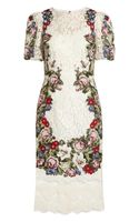Dolce & Gabbana Tapestry and Lace Dress
