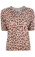 Sonia By Sonia Rykiel Leopard Print Sweater Top - Lyst