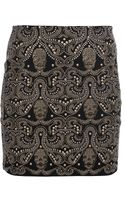 Philipp Plein Stud Embellished Mini Skirt - Lyst