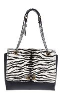 Lanvin Zebra Print Shoulder Bag - Lyst