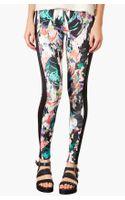 Topshop New Era Marble Scuba Leggings - Lyst