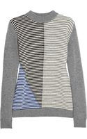Marni Contraststriped Wool and Cashmereblend Sweater