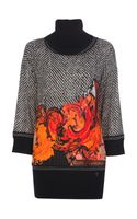 Roberto Cavalli Printed Turtleneck Sweater - Lyst