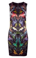McQ by Alexander McQueen Printed Stretchsilk Satin Dress - Lyst